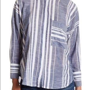 Lucky Brand Button-Down Stripe Shirt